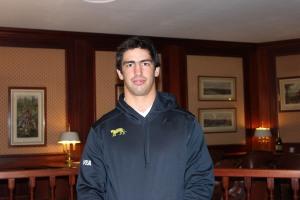 Tomás de la Vega. Hoy en el hotel, hablando de su nueva oportunidad (foto EA/Hablemosderugby).